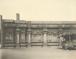 West view of Royagopuram opposite to Pudumandapum, Minakshi Amman Temple [Minakshi Sundareshvara Temple], Madura